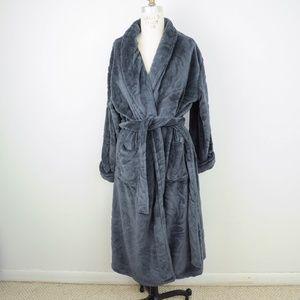 Natori Sherpa Plush Robe Long Waist Tie